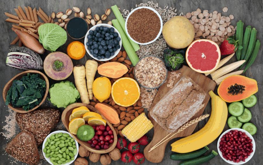 Thực phẩm chay giàu chất xơ nên thường ít calo