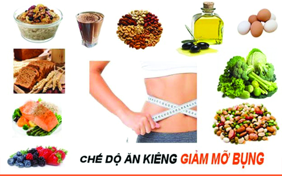 Chế độ ăn hợp lí hỗ trợ giảm mỡ bụng hiệu quả